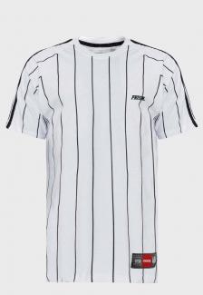Camiseta Listrada Prison Vertical Branca