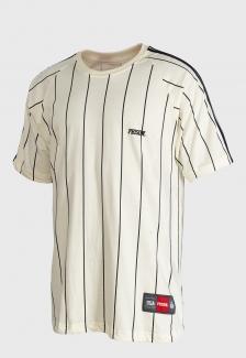 Camiseta Listrada Prison Vertical Off-White