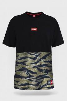 Camiseta Prison Camuflada Tiger Preta