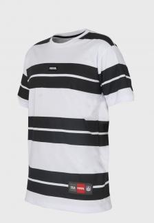 Camiseta Prison Listrada Branca Retro