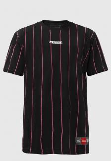 Camiseta Prison Listrada Pink Lines Preta
