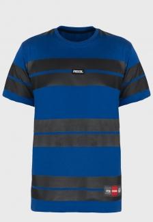 Camiseta Prison Listrada Retro Azul