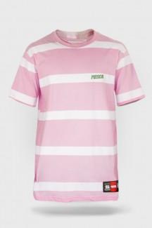 Camiseta Prison Listrada Rosa Crew