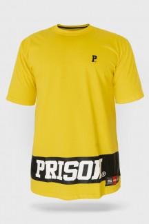 Camiseta Prison Streetwear Big Stripe Amarela
