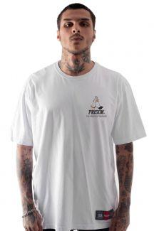Camiseta Prison Thug Prayer Branca