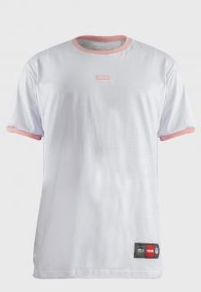 Camiseta Streetwear Logo Rosa Bordada Prison