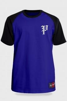 Camiseta Streetwear Prison Retro Raglan Azul