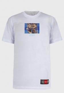 Camiseta Streetwear Prison White Mermaid + Food