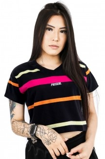 Cropped Prison Feminino Listrada Color Striped