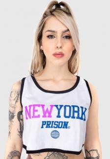 Regata Cropped Prison Feminina New York Pink