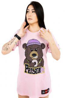 Vestido Streetwear Prison Feminino Gangster Bear Rosa