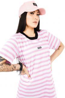 Vestido Streetwear Prison Feminino Pink Stripes