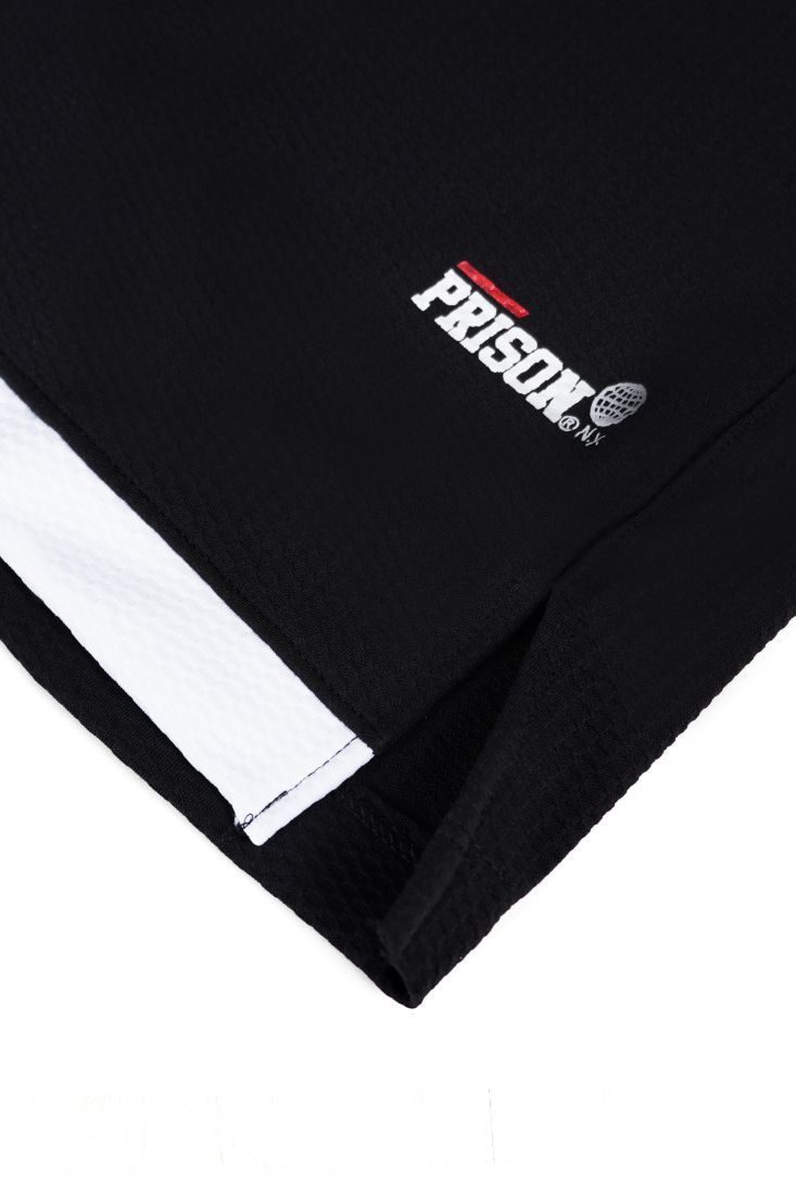 Bermuda Prison Streetwear White Stripe Preta