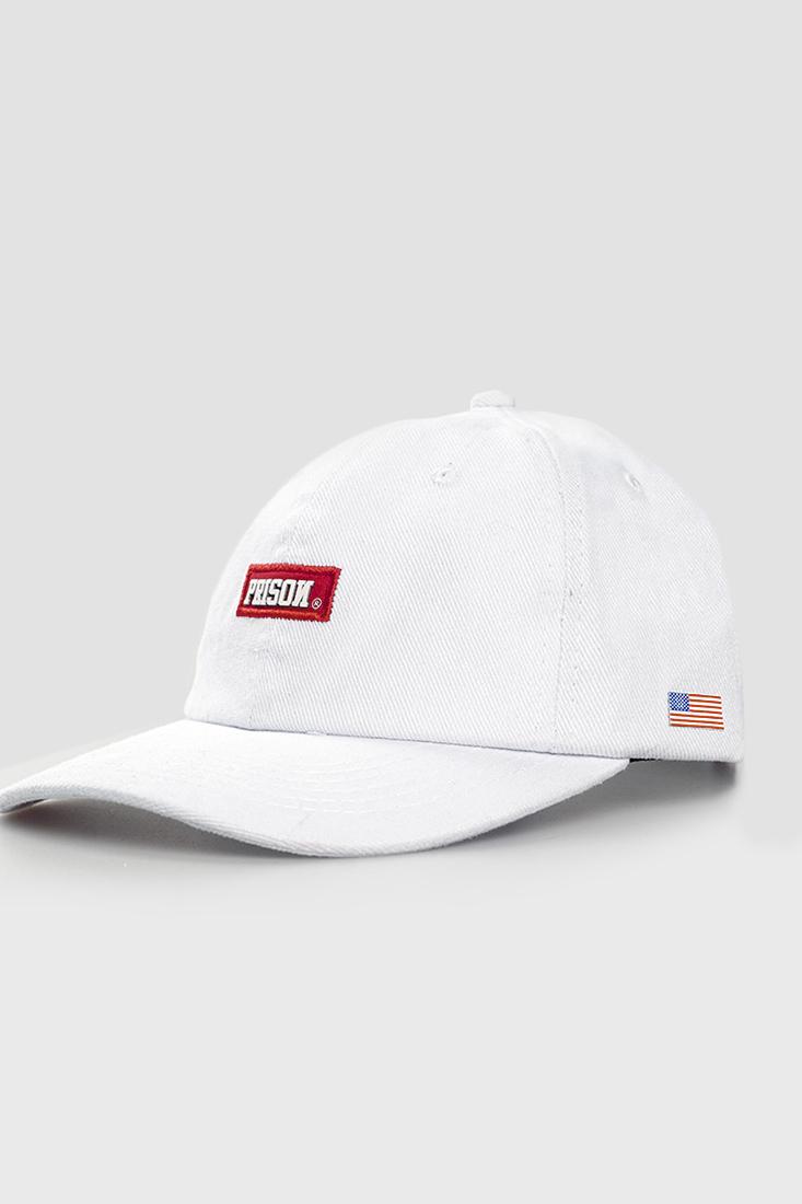 Boné Strapback Dad Hat Aba Curva Prison Red Branco