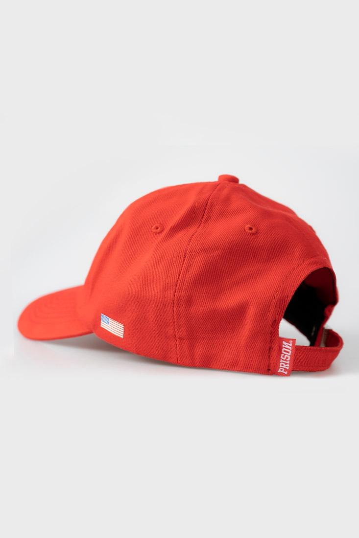 Boné Strapback Dad Hat Aba Curva Prison Red Vermelho