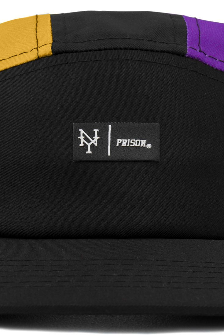 Boné Five Panel Prison Yellow Purple NY