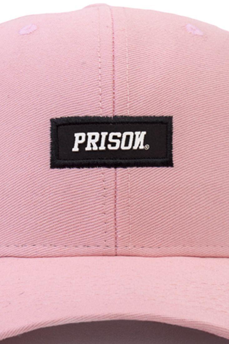 Boné Prison Strapback Black Logo Rosa