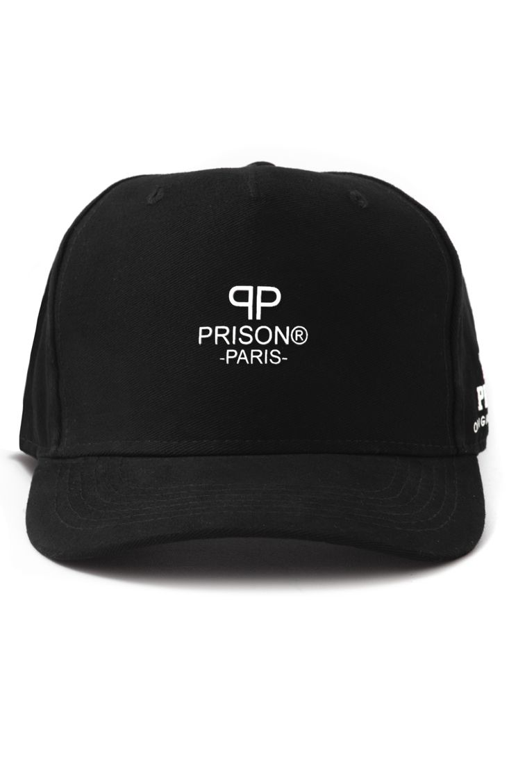 Boné Prison Strapback Paris Logo Preto