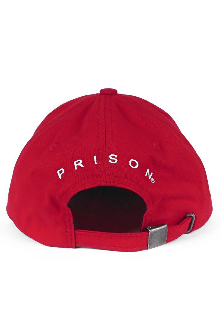 Boné Strapback Prison Red NY Vermelho