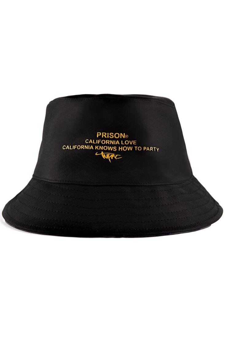 Bucket Hat Prison California Love Preto