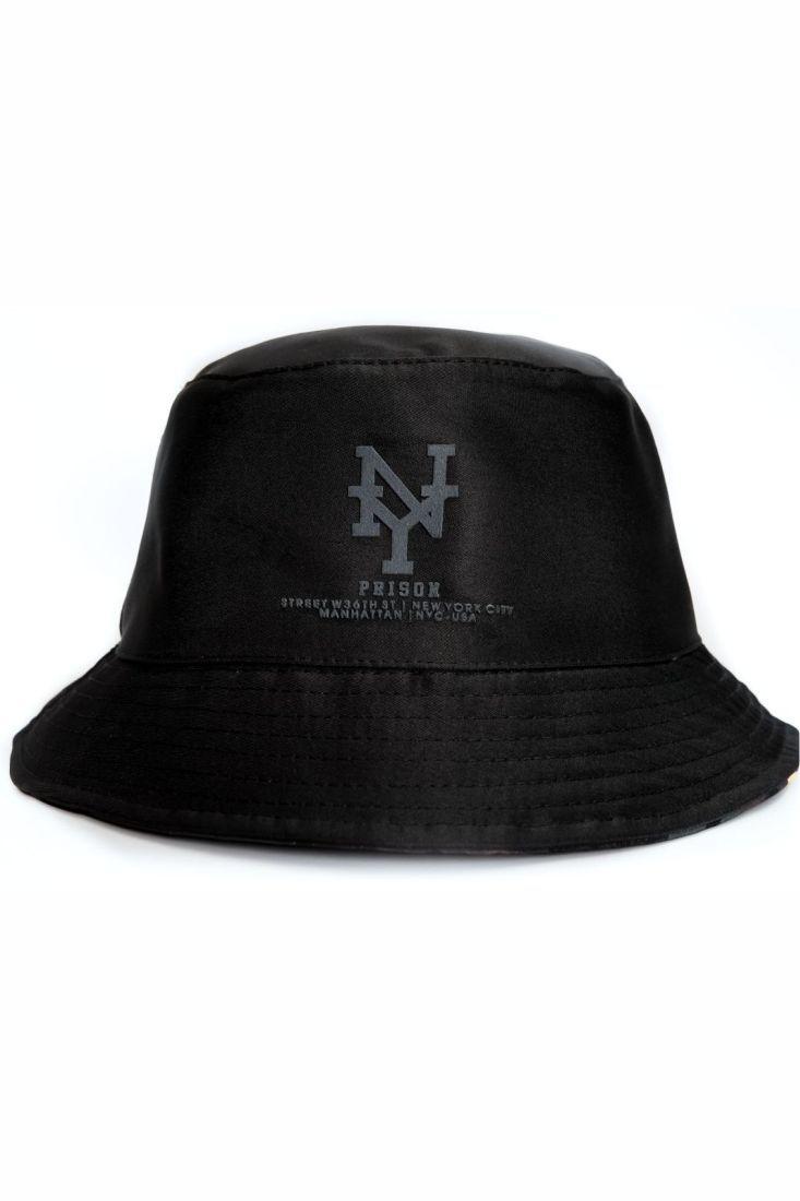 Bucket Hat Prison Camuflado Manhattan Preto