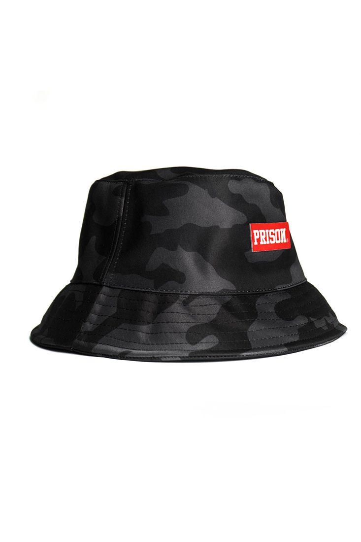 Bucket Hat Prison Camuflado Preto