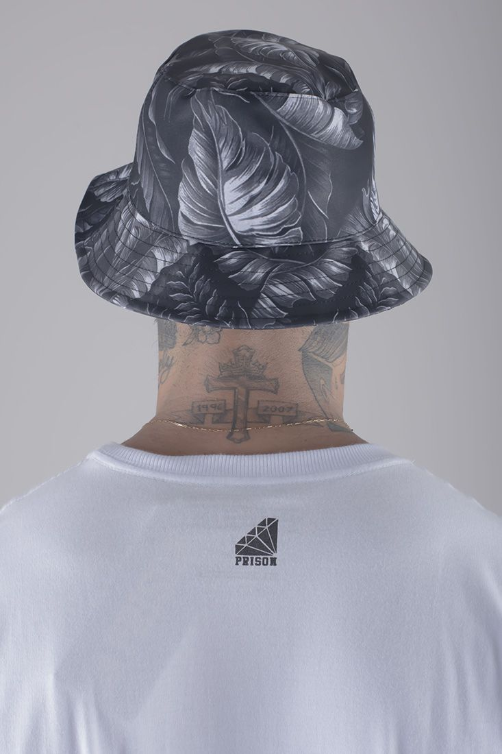 Bucket hat Prison Floral Black