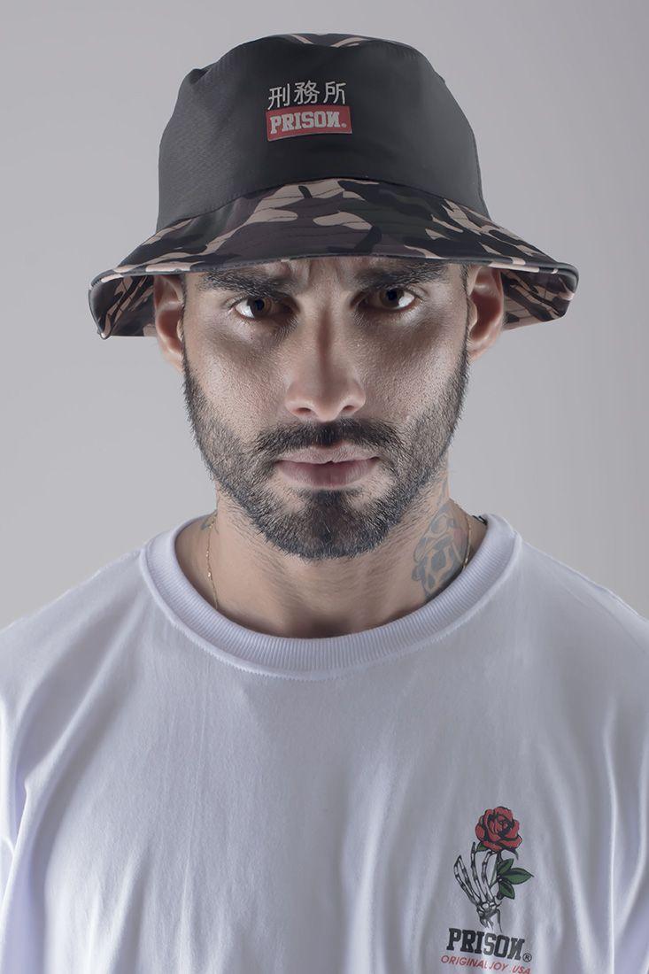 Bucket Hat Prison Kamikaze camuflado