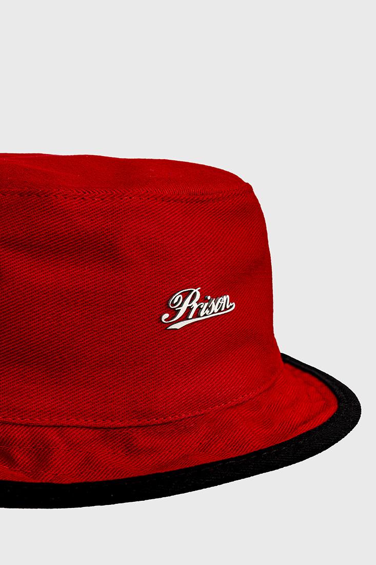 Bucket Hat Prison Logo Red