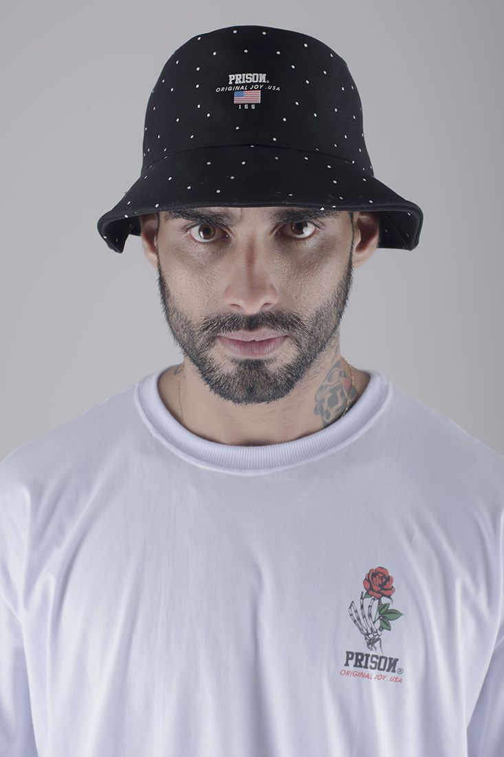 Bucket Hat Prison Usa Ball Preto