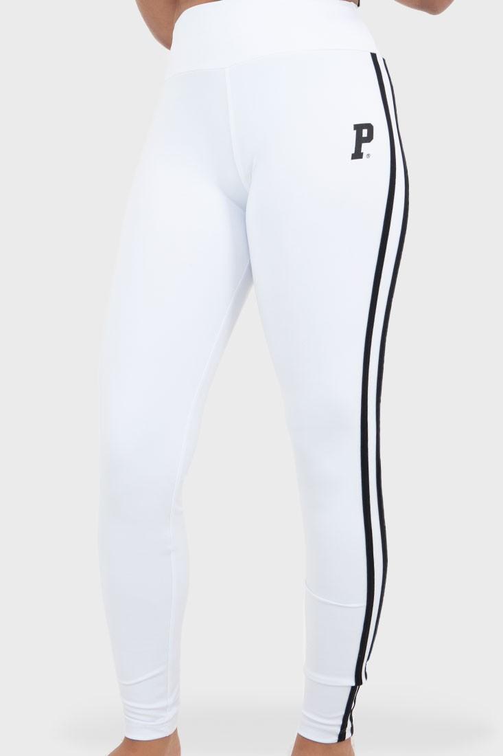 Calça Legging Prison Streetwear Feminina Track Branca
