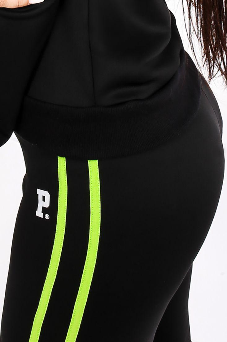 Calça Legging Prison Streetwear Feminina Track Preta