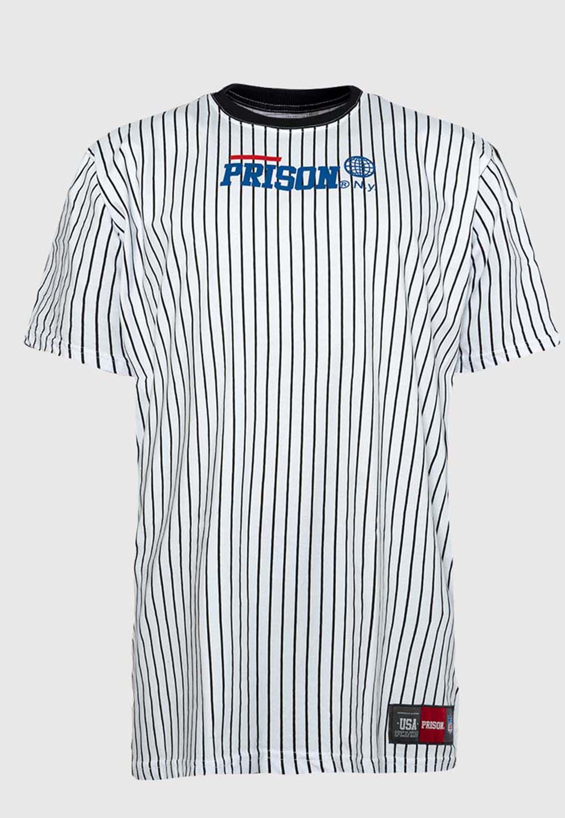 Camiseta baseball listrada prison global