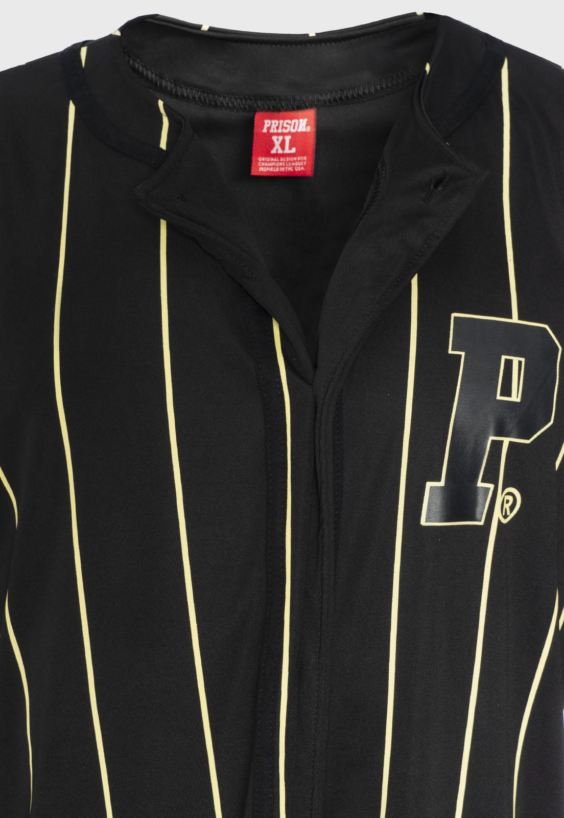 Camisa Baseball Listrada Prison Logo Yellow