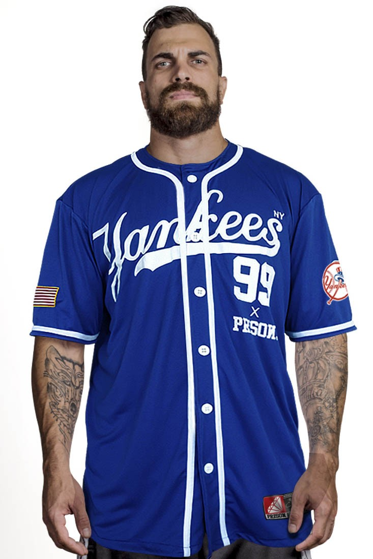 Camisa Baseball Yankees Prison Azul