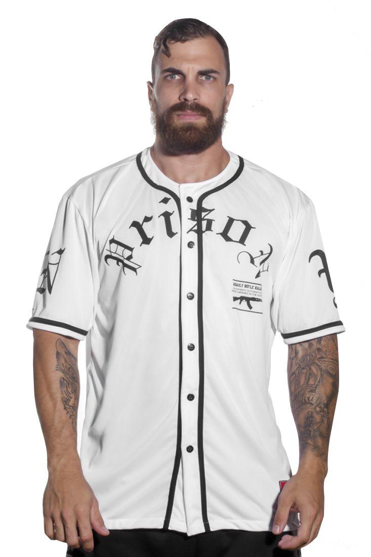 Camisa de Baseball AK Prison Branca