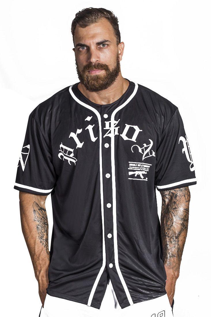 Camisa de Baseball AK Prison Preta