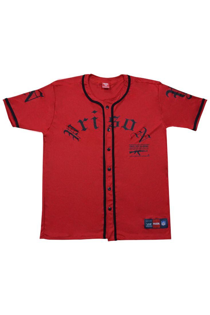 Camisa de Baseball AK Prison Vermelha