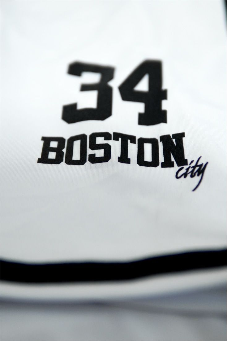Camisa de Baseball Boston New Jersey Branca