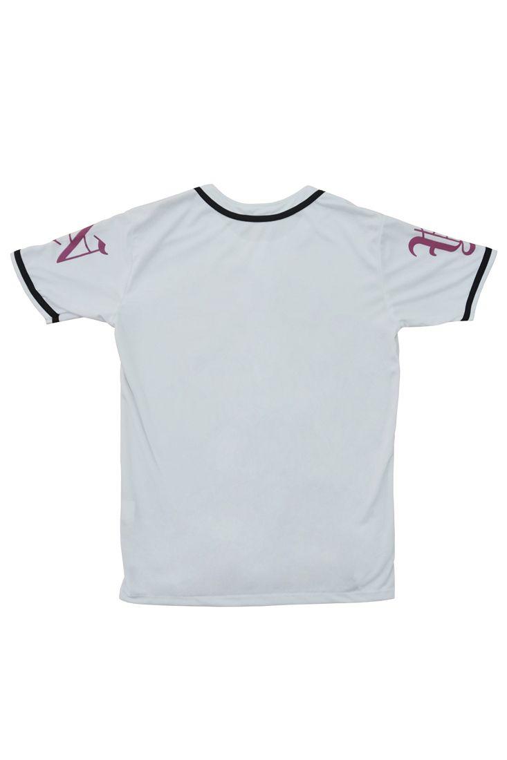 Camisa de Baseball Feminina a-k Prison  Branca