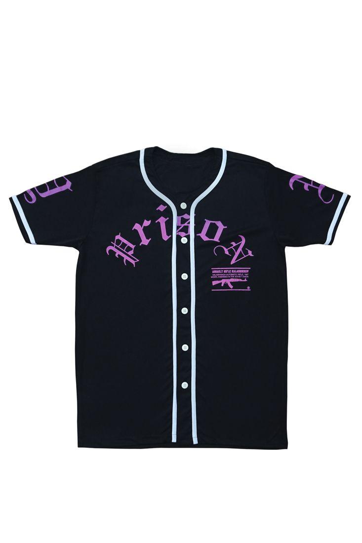 Camisa de Baseball Feminina Prison  a-k Preta