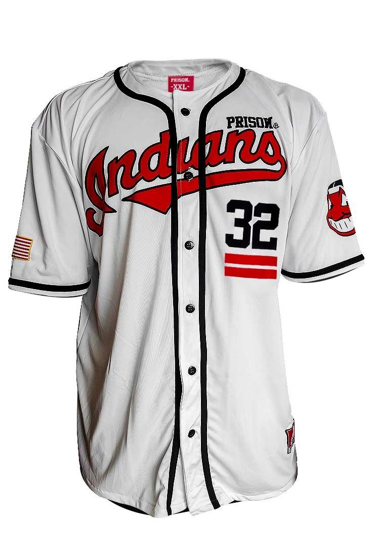 Camisa de Baseball Indians Branca