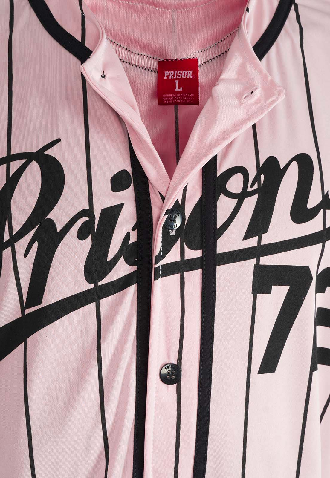 Camisa De Baseball league Prison Listrada Pink
