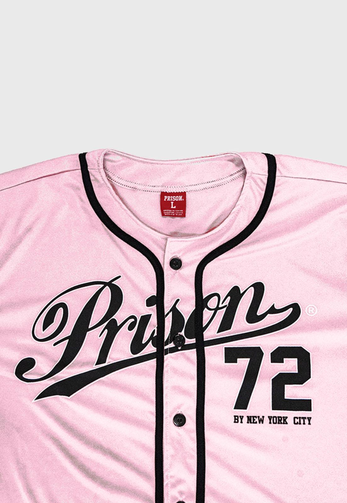 Camisa de Baseball New York 72 Rosa