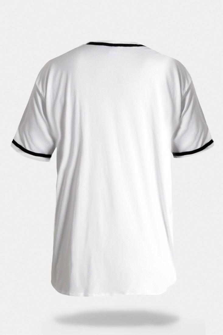 Camisa de Baseball Prison A-K Branca