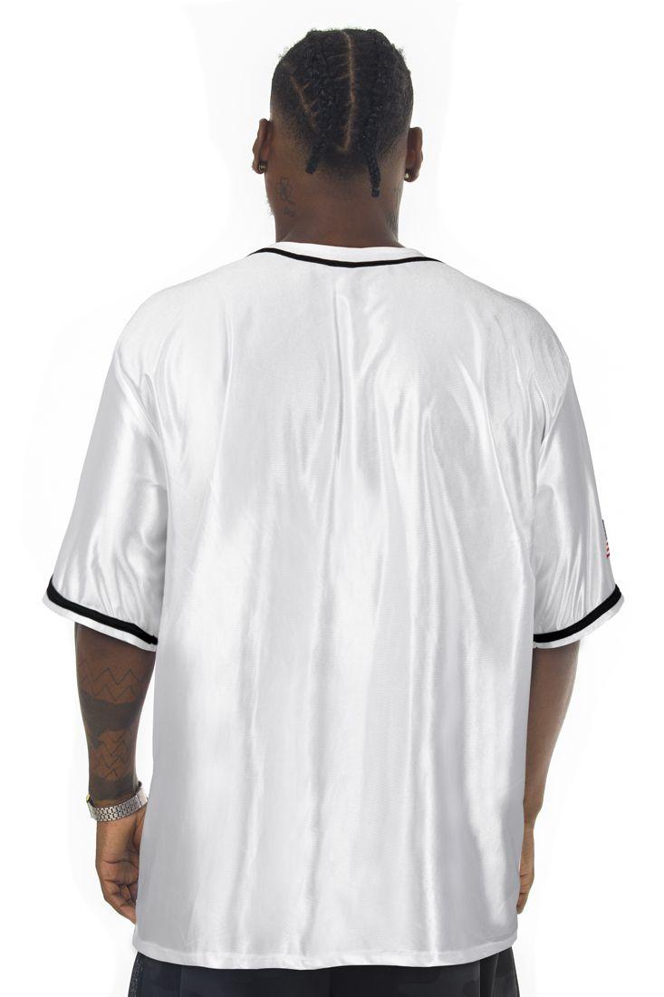 Camisa de Baseball Prison Bright Brooklyn Branca