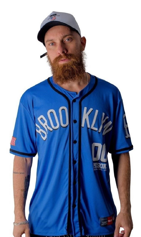 Camisa de Baseball Prison Brooklyn 00 Azul