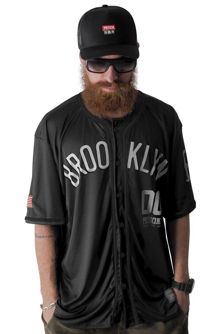 Camisa de Baseball Prison Brooklyn 00 Preta