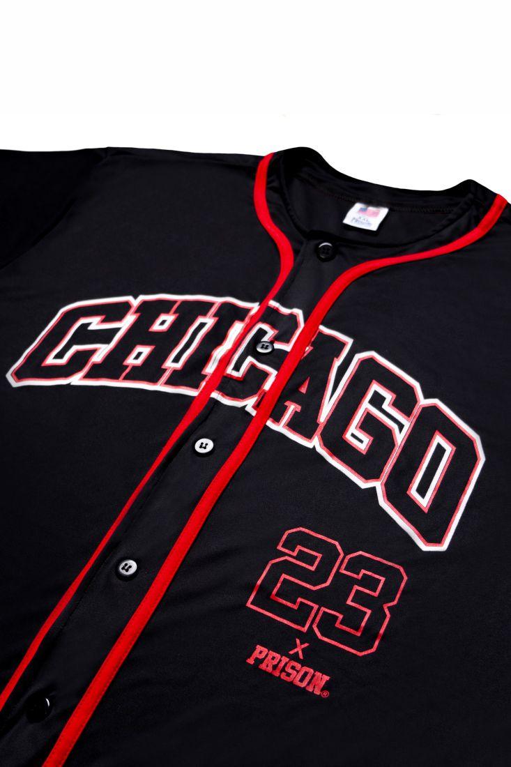 Camisa de Baseball Prison Chicago 23 Preta