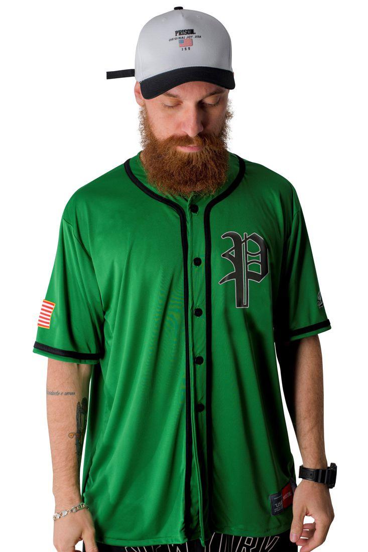Camisa de Baseball Prison Clean Green Verde